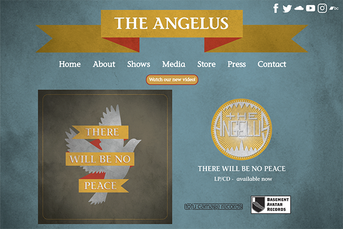 The Angelus band website