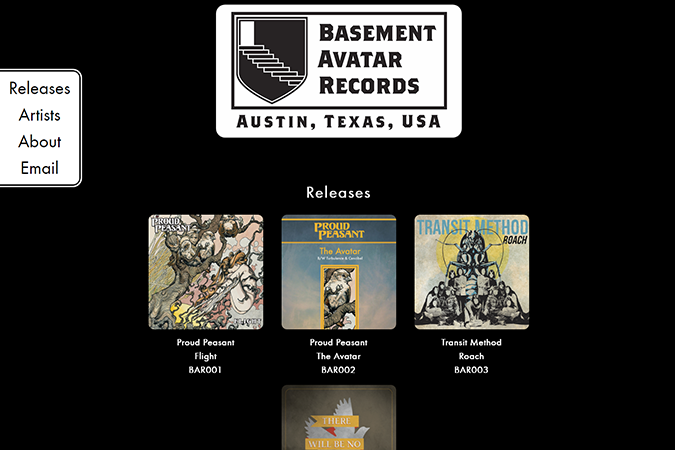 Basement Avatar Records website