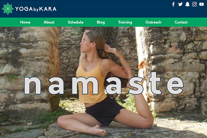 Yoga by Kara website